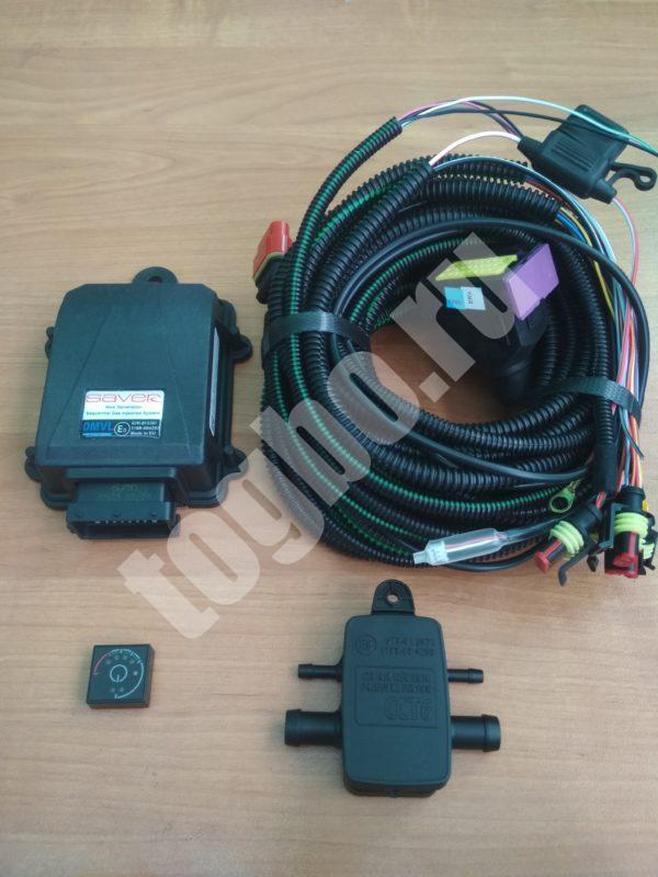 Комплект электроники OMVL saver (4cil) ЭБУ, МАР, кнопка, эл. коса.